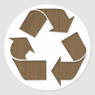 Cardboard Recycle Symbol Sticker