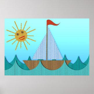 Cardboard Yacht Poster