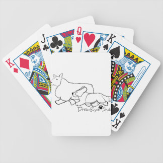 Cardi Moving a Sheep Bicycle Playing Cards