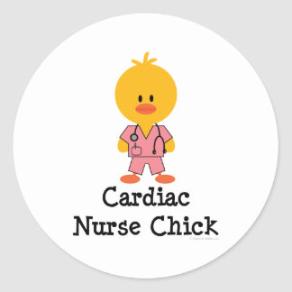 Cardiac Nurse Chick Stickers
