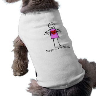 Cardiac Nurse Gifts Stick Person Design V-Fib Dog Tshirt