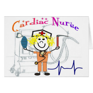 Cardiac Nurse  Unique and Adorable Gifts Greeting Card