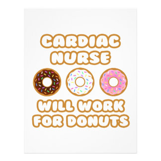 Cardiac Nurse Will Work For Donuts Personalized Letterhead