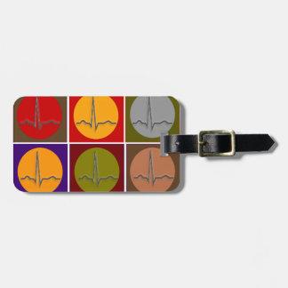 Cardiac QRS Pop Art Luggage Tag