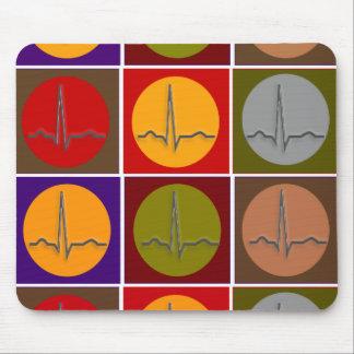 Cardiac QRS Pop Art Mouse Pad
