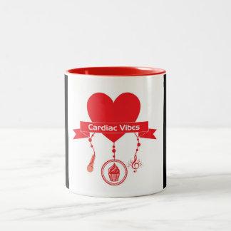 Cardiac Vibes Two-Tone Coffee Mug