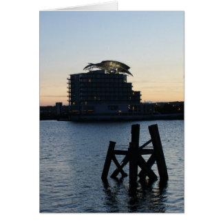 Cardiff Bay Sunset Card