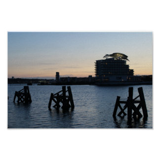 Cardiff Bay Sunset Poster