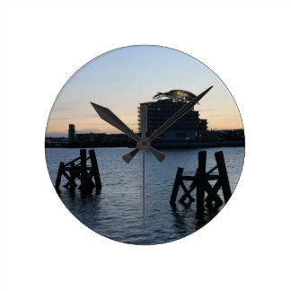 Cardiff Bay Sunset Wallclock