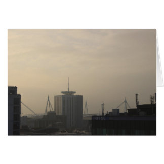 Cardiff City Skyline Card