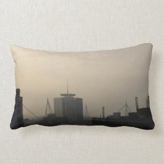 Cardiff City Skyline Lumbar Pillow