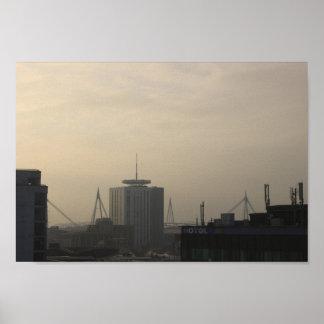 Cardiff City Skyline Poster