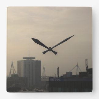 Cardiff City Skyline Square Wall Clock