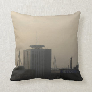 Cardiff City Skyline Throw Pillow