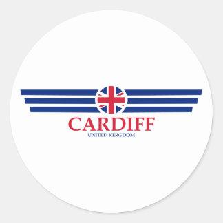 Cardiff Classic Round Sticker