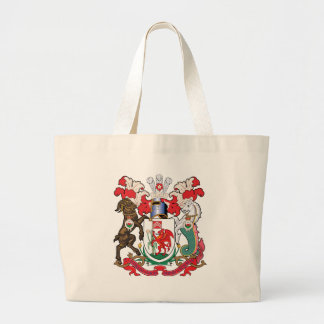Cardiff Coat of Arms Large Tote Bag