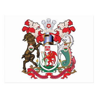 Cardiff Coat of Arms Postcard