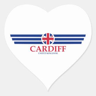 Cardiff Heart Sticker