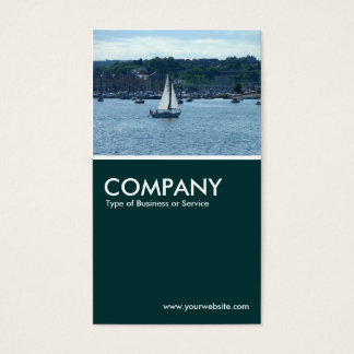 Cardiff Marina - Dark Green Business Card