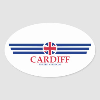 Cardiff Oval Sticker