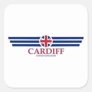 Cardiff Square Sticker