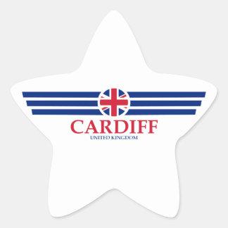 Cardiff Star Sticker