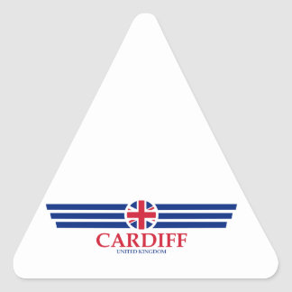 Cardiff Triangle Sticker