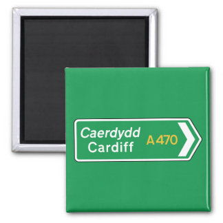 Cardiff, UK Road Sign Magnet