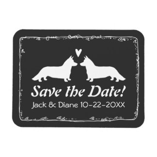 Cardigan Corgis  Wedding Save the Date Magnet