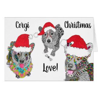 Cardigan Welsh Corgi Christmas Greeting Card
