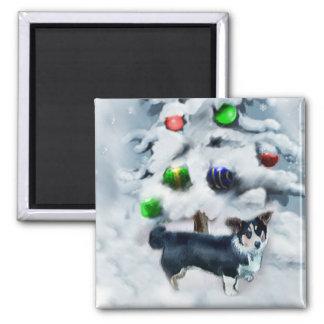 Cardigan Welsh Corgi Christmas Magnet