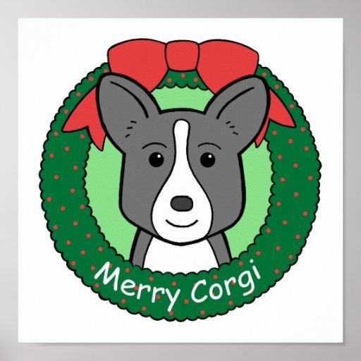 Cardigan Welsh Corgi Christmas Poster