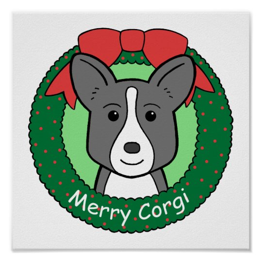 Cardigan Welsh Corgi Christmas Poster