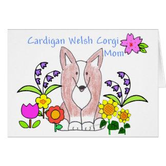 Cardigan Welsh Corgi Fawn Mom Card