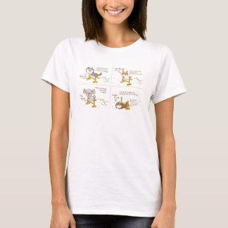 cardigan welsh corgi four-panel cartoon T-Shirt