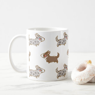 cardigan welsh corgi hand drawing handle coffee mug