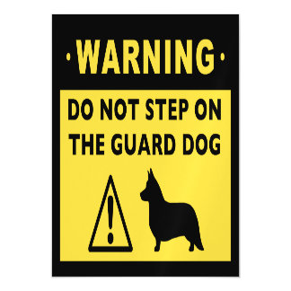 Cardigan Welsh Corgi Humorous Guard Dog Warning Magnetic Card