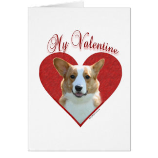 Cardigan Welsh Corgi My Valentine Card