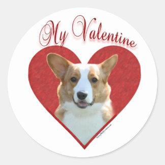 Cardigan Welsh Corgi My Valentine - Sticker