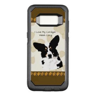 Cardigan Welsh Corgi on Tan Leaves OtterBox Commuter Samsung Galaxy S8 Case