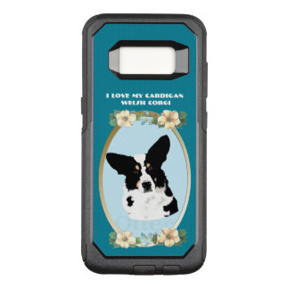 Cardigan Welsh Corgi on Teal Floral OtterBox Commuter Samsung Galaxy S8 Case