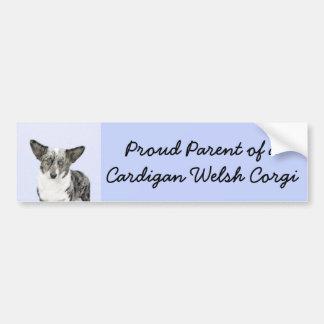 Cardigan Welsh Corgi Painting - Original Dog Art Bumper Sticker