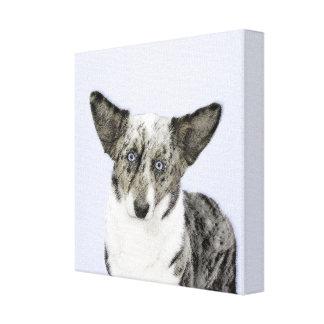 Cardigan Welsh Corgi Painting - Original Dog Art Canvas Print