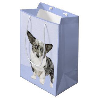 Cardigan Welsh Corgi Painting - Original Dog Art Medium Gift Bag