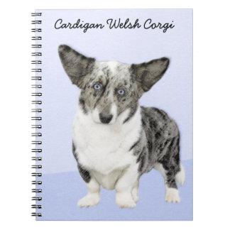 Cardigan Welsh Corgi Painting - Original Dog Art Notebook