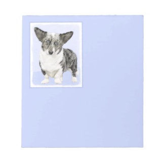 Cardigan Welsh Corgi Painting - Original Dog Art Notepad