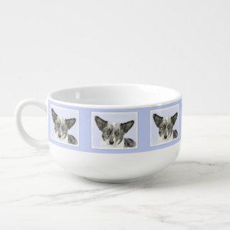 Cardigan Welsh Corgi Painting - Original Dog Art Soup Mug