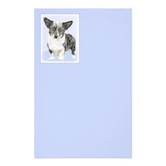 Cardigan Welsh Corgi Painting - Original Dog Art Stationery