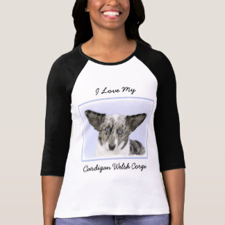 Cardigan Welsh Corgi Painting - Original Dog Art T-Shirt