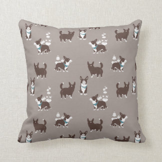 cardigan welsh corgi peduncle throw pillow